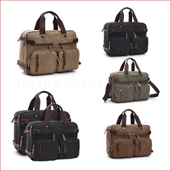 Men Briefcase Laptop Shoulder Bag Crossbody Messenger Backpack Satchel 17quot; Large AU $50.00