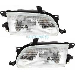 New Set Of Two Head Light Assembly Fits 95-96 Toyota Tercel To2502111 To2503111