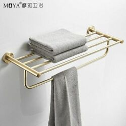 Nordic Lax Gold Brass Towel Stand Stainless Steel Towel Stand Toilet Shelf Bathr