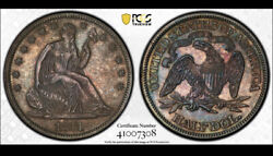 1871 Pcgs Pr64 Mintage 960 Minted Many Melted Key Proof Seated Half Dollar 50c