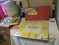 Finance Board Game 1st Parker Brothers Edition