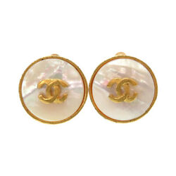 Authentic Vintage Cocomark Earrings Gold Shell 0794