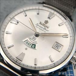 Titoni Space Star 938-375 Automatic Day Date Ss 37mm Authentic Vintage Rare