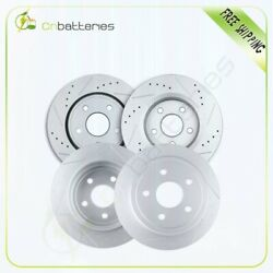 Front + Rear Slotted Brake Discs Rotors For Jeep Commander 2006 07 08 09 2010