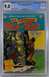 All American Men Of War 4 Cgc 9.0 White Pages 1953 Highest Graded Copy