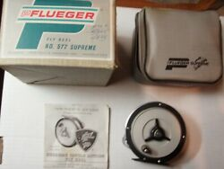 Vintage Pflueger Supreme No.577 W/ Case And Papers