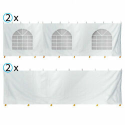 4 Sidewalls 30x30and039 Canopy Tent Enclosure Kit 7and039h Block Out Vinyl Privacy Panel