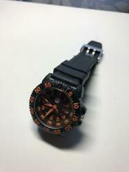Authentic Luminox Watch Navy Seals Color Mark Ref.3059 Black T25 Military Orange