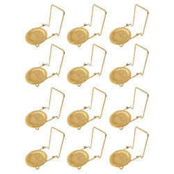 Bovado Usa Tea Cup And Saucer Display Stand Easel Holder Rack New Brass, 12 Pack