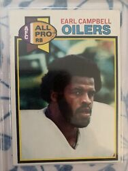 1979 Topps Football Earl Campbell Rookie Rc 390