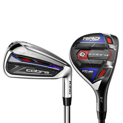 New Cobra King Radspeed One Length Combo Hybrid Irons 2021 Choose Shaft And Flex