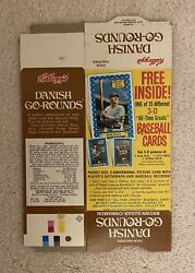 1972 Kelloggs Danish Complete Box With Advertising For 3d Baseball Cards Ruth