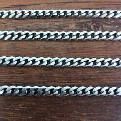 Silver 316l Stainless Steel Chain Necklace Statement Vintage For Men Jewelry