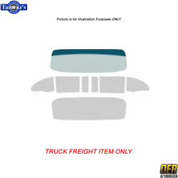 55-6 Chevy 2dr Hdtp Windshield Tinted Door Vent Side Quarter Window Rear Glass