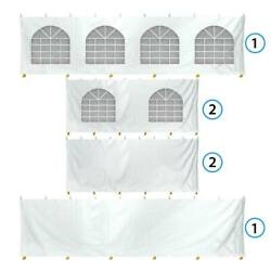 6 Sidewalls 30x40and039 Canopy Tent Enclosure Kit 7and039h Block Out Vinyl Privacy Panel
