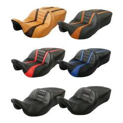 One Piece Rider Driver Passenger Seat 2 Up Fit For Harley Touring 09-up 6 Colors