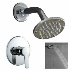 4 Inch Shower Faucet System Set Rainfall W/ Hot/cold Control Handle 1/2 Dn15