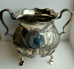 Vintage W And H Walker And Hall Sheffield Silver Plate Claw Leg 2 Handle Pot W9