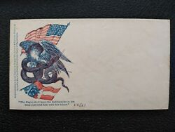 Unused Snow And Hapgood Civil War Patriotic Eagle And Rattlesnake Design Cover