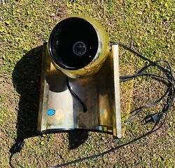 Working Vintage Mid Century Space Age Gold Eyeball Portable Table Lamp Retro