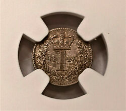 Great Britain 1845 Maundy 1 Pence Ms 65 - One Of The Finest Known - Pl Surface
