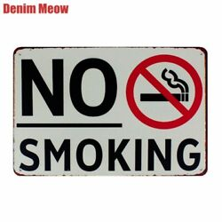 No Smoking Vintage Metal Tin Signs Art Posters Wall Stickers For Club Bar Home