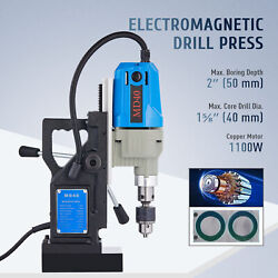 Magnetic Base Drill Force Tapping Press Boring Magnet 1100w 12000n 2 Depth New