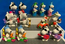 11 Vintage Snoopy Joe Cool Peanuts Key Chain Rings And 2 Tree Decorations