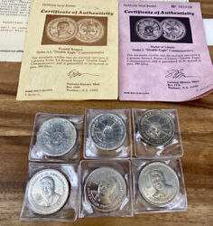 Statue Of Liberty And Ronald Reagan Series Aa Double Eagle Commemorative Coin Set