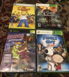The Simpsons Game,xbox 360 Family Guy, The Witcher 2, Scooby-doo Tested N Work