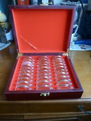Olympic Games Rare 29 Medals 24kt Gold Plate With High-grade Box Packaging