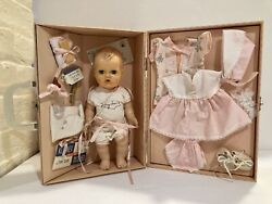 Vintage American Character Tiny Tears 11 Baby Doll W/trunk And Accessories - Read