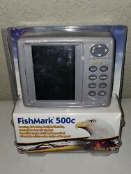 New Open Package Eagle Fishmark 500c Fish Finder W/ Transducer And Mount