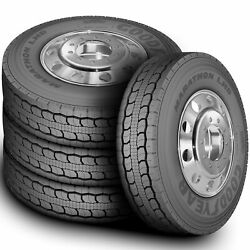 4 New Goodyear Marathon Lhd 295/75r22.5 Load G 14 Ply Drive Commercial Tires
