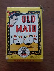 Vintage Ed-u-cards Old Maid Circus Edition Card Game 1947 Complete Made In U.s.a