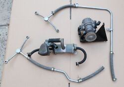 1968 Porsche 912 Smog Air Pump W/ Pully, Bracket, Tubes, Hoses - One-year-only