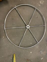 Edson Steering Wheel 40 Ss 6 Spoke 1 Straight Shaft. Used / Good Condition / S