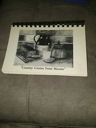 Country Cuisine From Maxine Spiral-bound By Maxine Henderson And Roland Vg