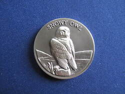 1972 Wittnauer Mint Snowy Owl Silver Medal Longines Endangered Wildlife E5640