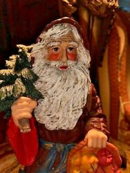Mann Santa 12 W/ Music Box Plays You Better Watch Out - Signed Jaimy /vintage