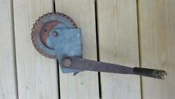 Vintage Fulton Co. No. 228 Winch For Boat Trailer Etc. Milwaukee Wis.