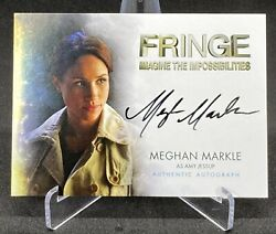 Meghan Markle Duchess Of Sussex Auto Trading Card Royal Family Fringe Suits Psa