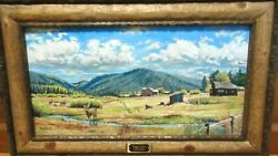 Jerry Deverse Greer Valley Original Oil On Canvas Western Landscape Painting