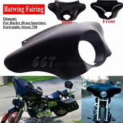 Motorcycle Batwing Fairing Black For Harley Dyna Fxdb Fxdl Fxdls Fxdf Fxdwg Fxdc