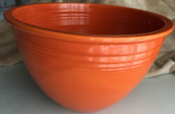 Vintage Fiesta 6 Large Mixing Bowl Radioactive Red Pre Ww2 Rings Perfect👀