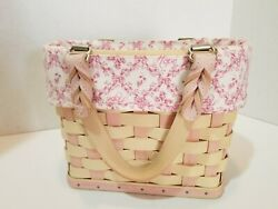 Longaberger Small Purse Basket Horizon Of Hope With Liner Leather Handles...