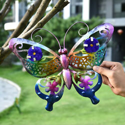 Metal Butterfly Ornaments Colourful Butterfly Paper Cutting Wall Hanging Decor