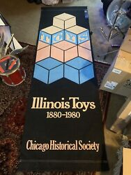Giant Vintage Chicago Historial Society Street Banner Illinois Toys. 1880-1980