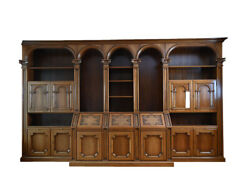 Brown Wall Unit Made Of Solid Wood Vintage