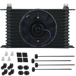 13 Row 6an Auto-motive Engine Trans-mission Oil Cooler 6 Inch Electric Fan Kit
